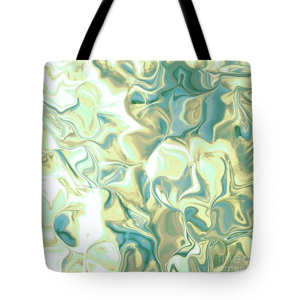 Pedals Green-blue Tote Bag