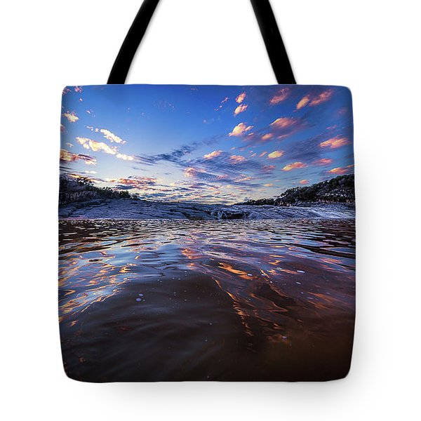 Peddernales Falls Sunset #1 Tote Bag by Micah Goff