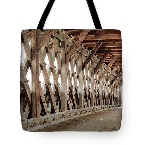 Pedestrian Bridge Guelph Ontario Tote Bag