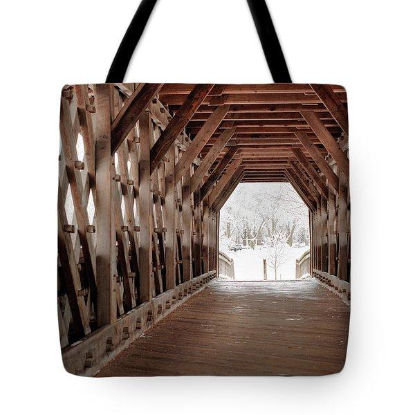 Pedestrian Lattice Bridge Tote Bag