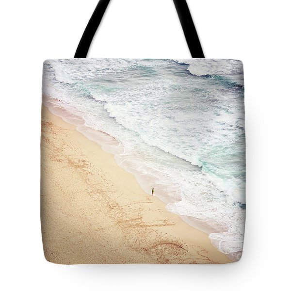 Tote Bag featuring the photograph Pedn Vounder by Lyn Randle