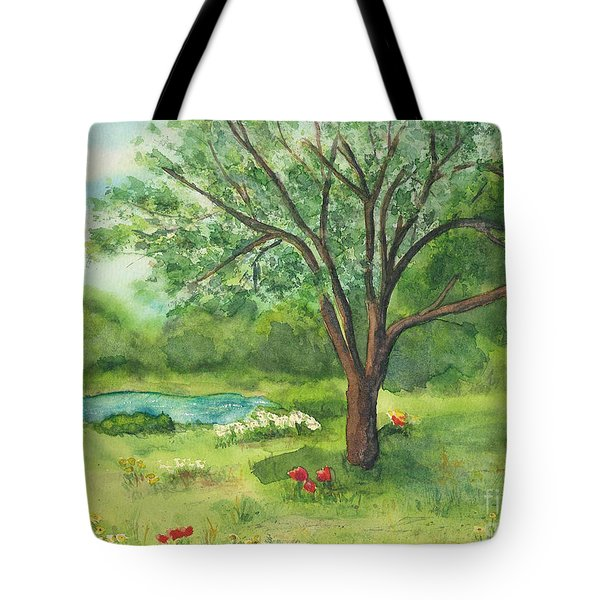 Tote Bag featuring the painting Pedro's Tree by Vicki  Housel