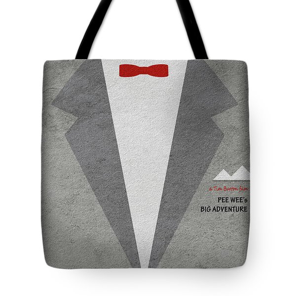 Tote Bag featuring the digital art Pee-wee's Big Adventure by Ayse Deniz