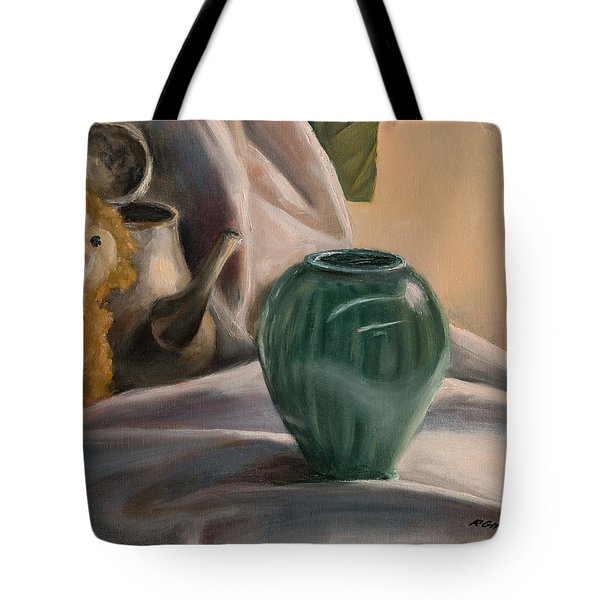 Tote Bag featuring the painting Peek-a-boo by Break The Silhouette