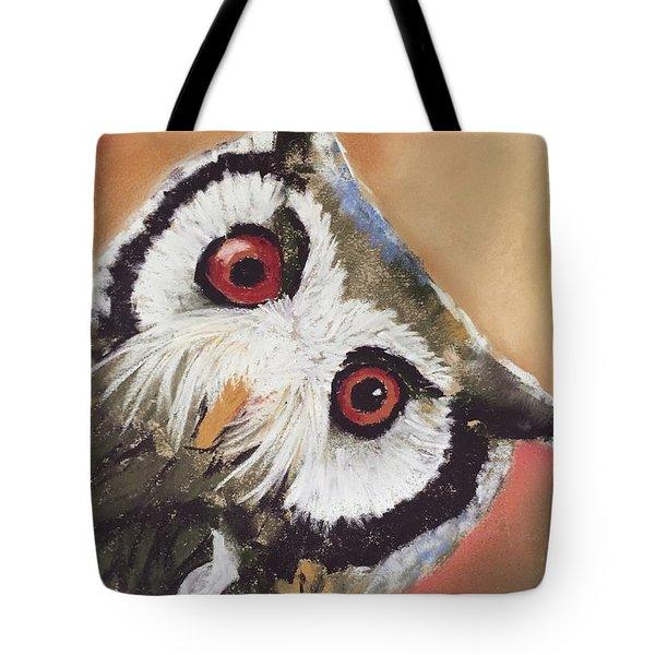 Peekaboo Owl Tote Bag
