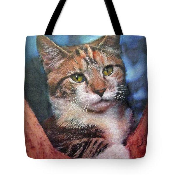 Peekaboo Tabby Tote Bag