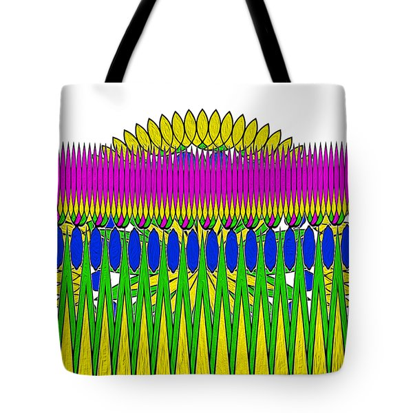 Tote Bag featuring the photograph Peeking Sun Abstract By Kaye Menner by Kaye Menner