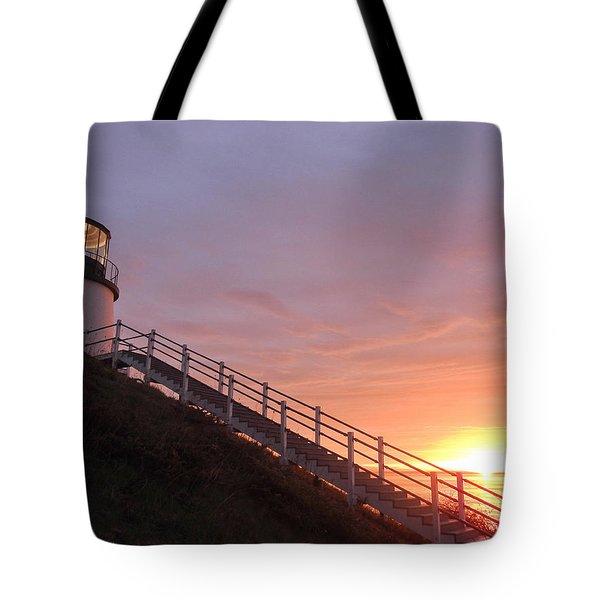 Peeking Sunrise Tote Bag