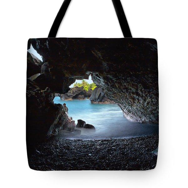 Peeking Through The Lava Tube Tote Bag