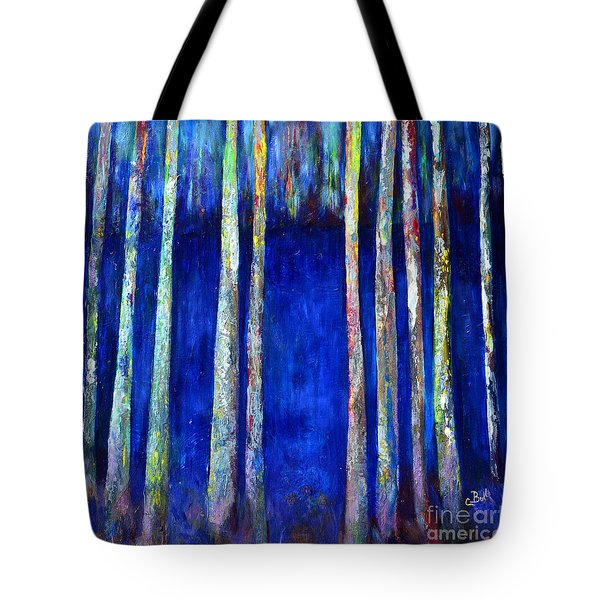 Peeking Through The Trees Tote Bag
