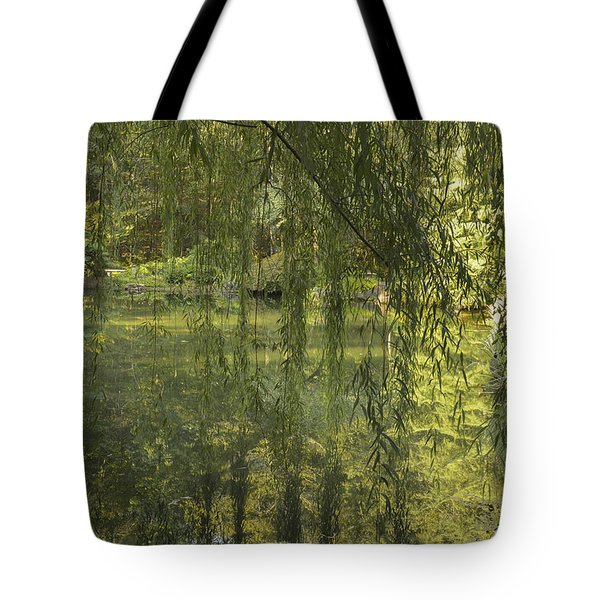 Peeking Through The Willows Tote Bag by Linda Geiger