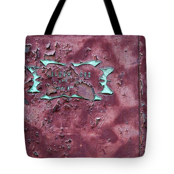 Tote Bag featuring the photograph Peeling Door Abstract by Stuart Litoff