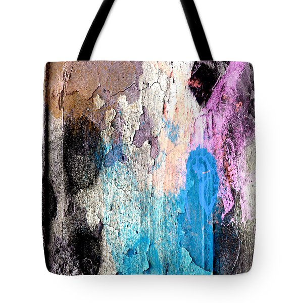 Tote Bag featuring the mixed media Peeling Paint by Jessica Wright