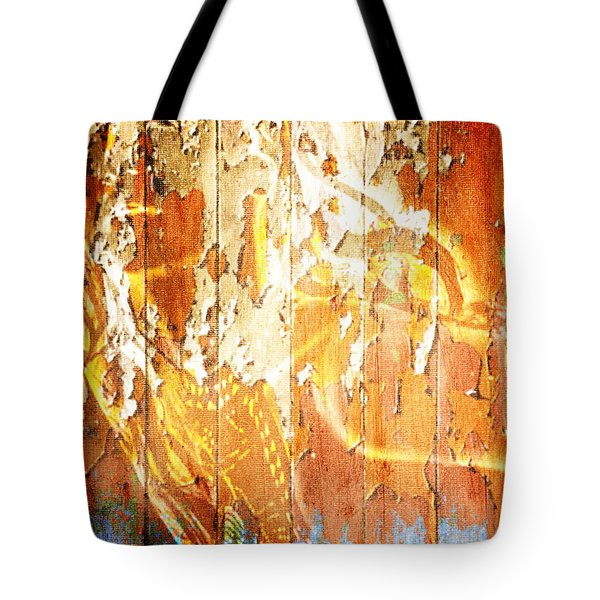 Peeling Wall Portrait Tote Bag