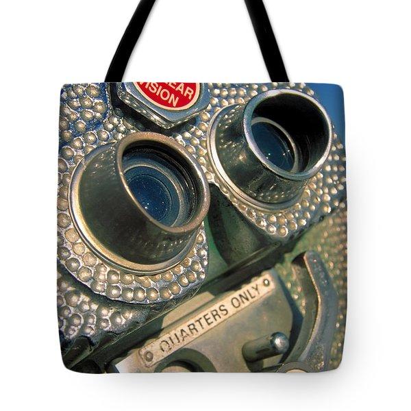 Peep Show Tote Bag by Skip Hunt