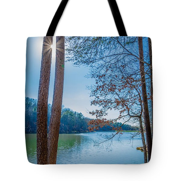 Peeping Sun Tote Bag