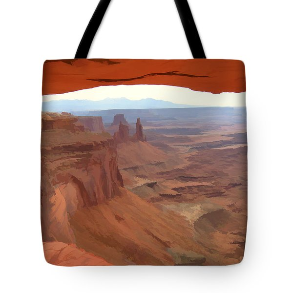 Peering Out 2 Watercolor Tote Bag by Gary Baird
