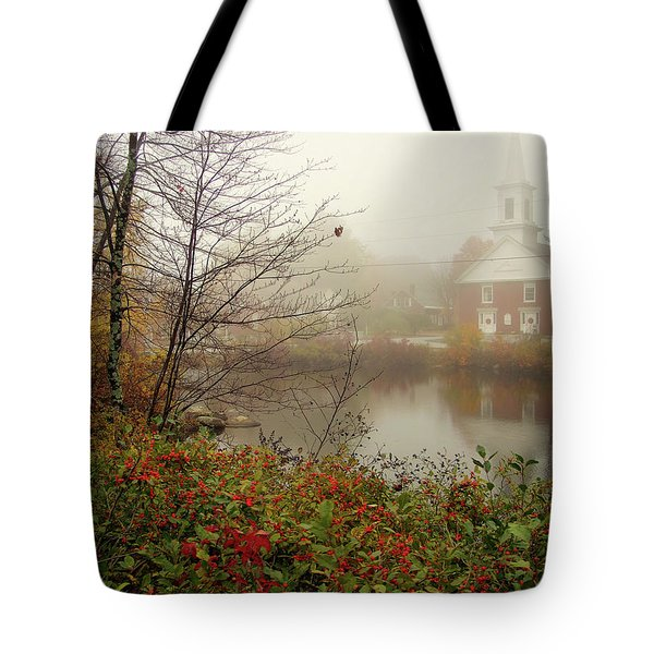 Foggy Glimpse Tote Bag