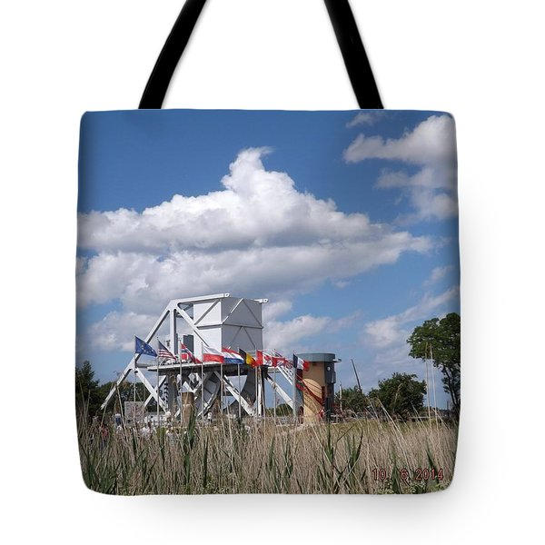 Pegasus Bridge Tote Bag