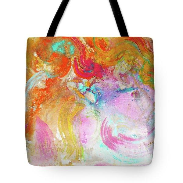 Tote Bag featuring the painting Pegasus by Eva Konya
