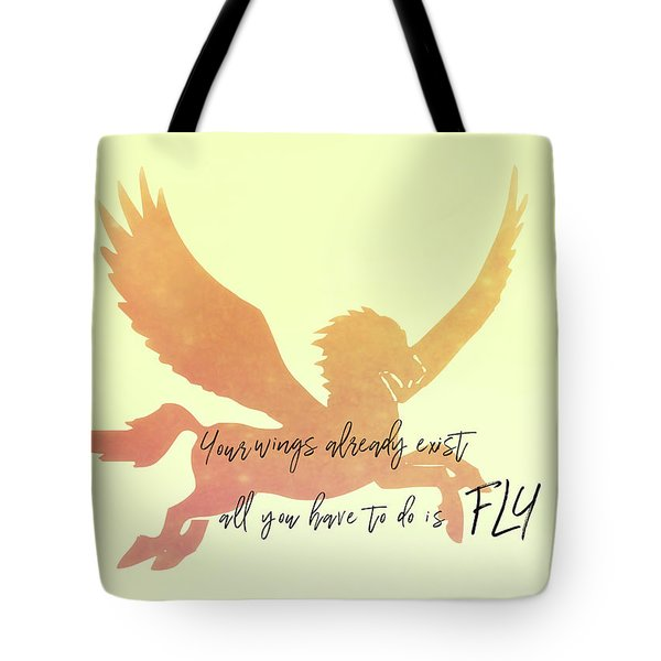 Pegasus Flight Tote Bag