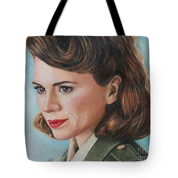 Peggy Carter / Hayley Atwell Tote Bag