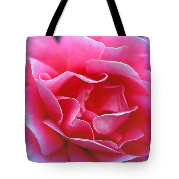 Tote Bag featuring the photograph Peggy Lee Rose Bridal Pink by David Zanzinger