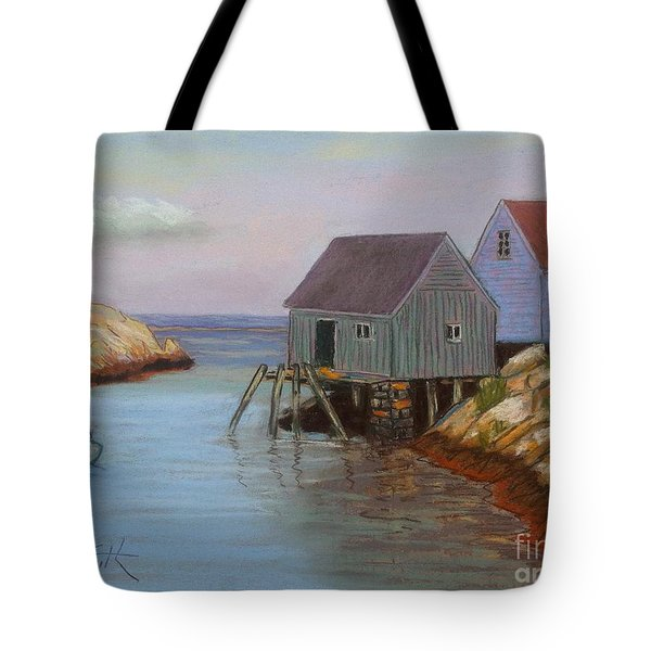 Peggy's Cove Fish Shacks Tote Bag