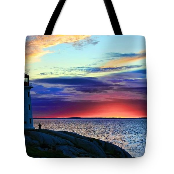 Peggy's Cove Lighthouse Tote Bag