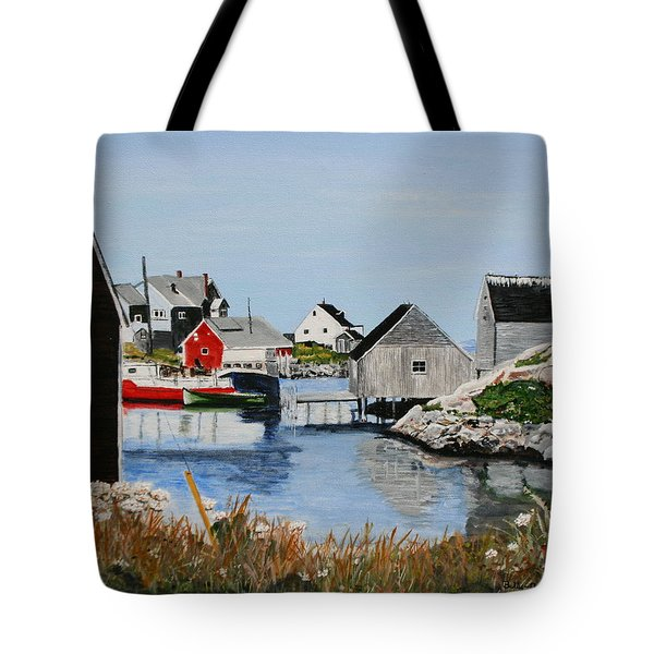 Peggys Cove Nova Scotia Tote Bag