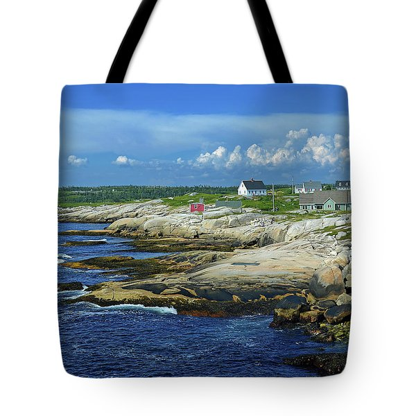Tote Bag featuring the photograph Peggy's Cove by Rodney Campbell