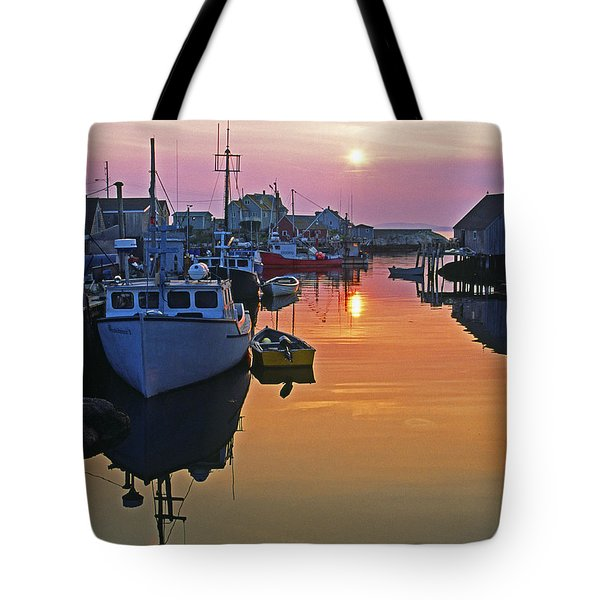 Peggy's Cove Sunset, Nova Scotia, Canada Tote Bag