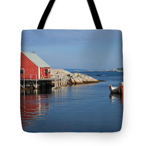Peggys Cove Tote Bag by Thomas Marchessault