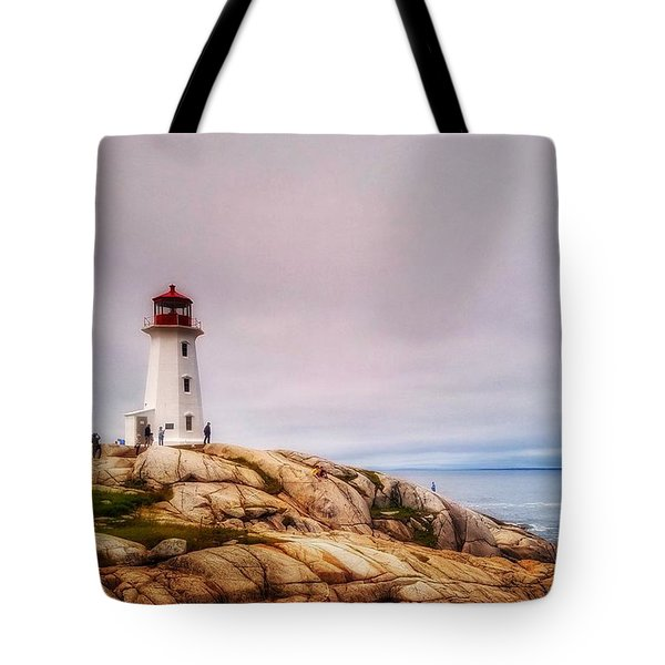 Peggys Point Lighthouse Tote Bag