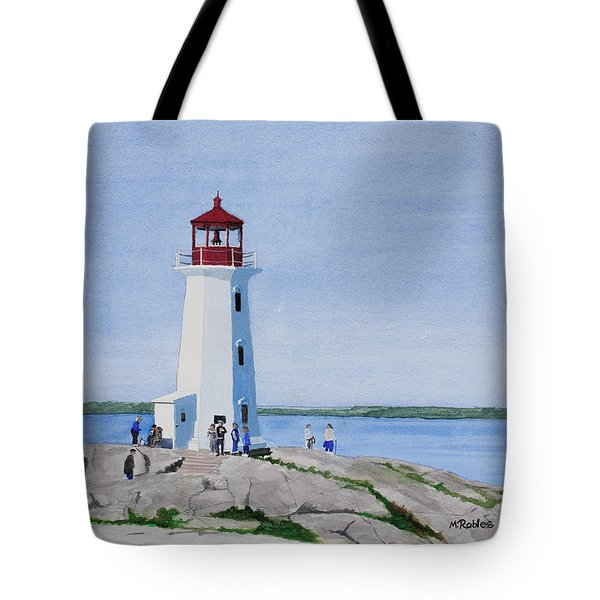 Peggy's Point Lighthouse Tote Bag by Mike Robles