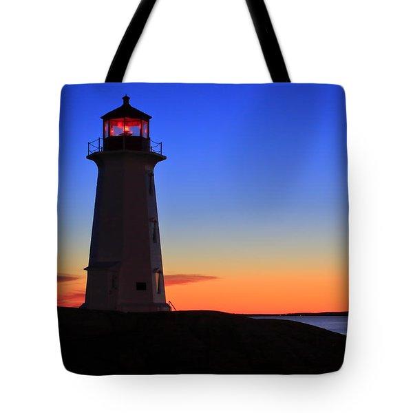 Peggy's Point Lighthouse, Nova Scotia Tote Bag