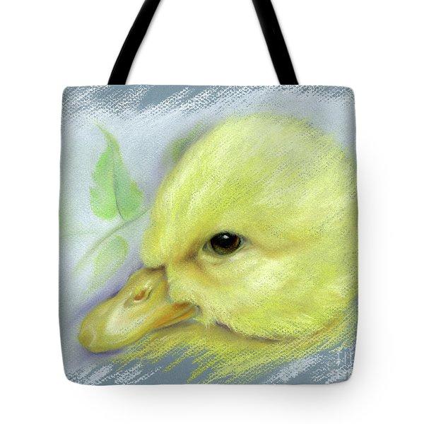 Pekin Duckling Portrait Tote Bag