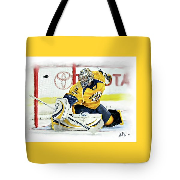Tote Bag featuring the photograph Pekka Rinne by Don Olea