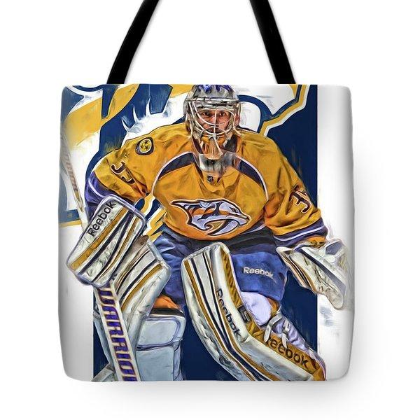 Pekka Rinne Nashville Predators Tote Bag