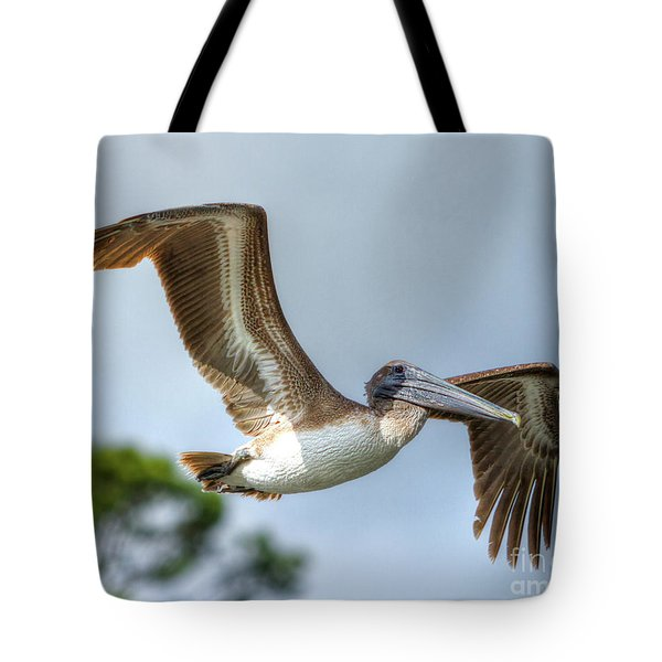 Tote Bag featuring the photograph Pelican-4443 by Tommy Patterson