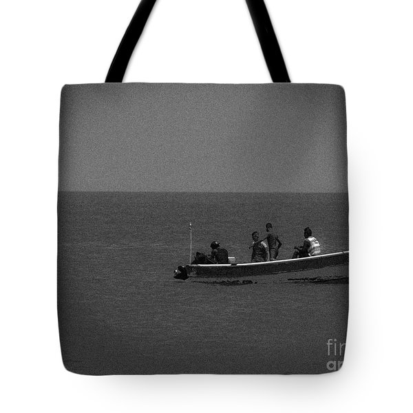 Pelican And The Fishing Boat Tote Bag