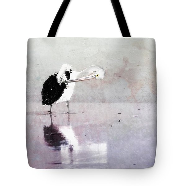 Tote Bag featuring the photograph Pelican Art 0002 by Kevin Chippindall