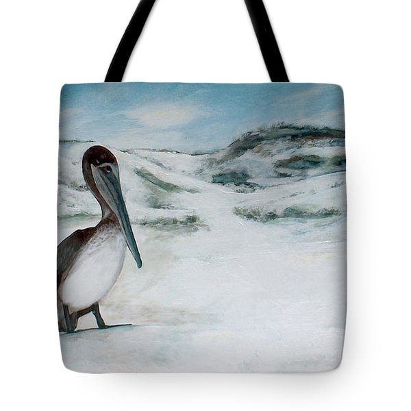 Pelican At Topsail Hill State Park Tote Bag