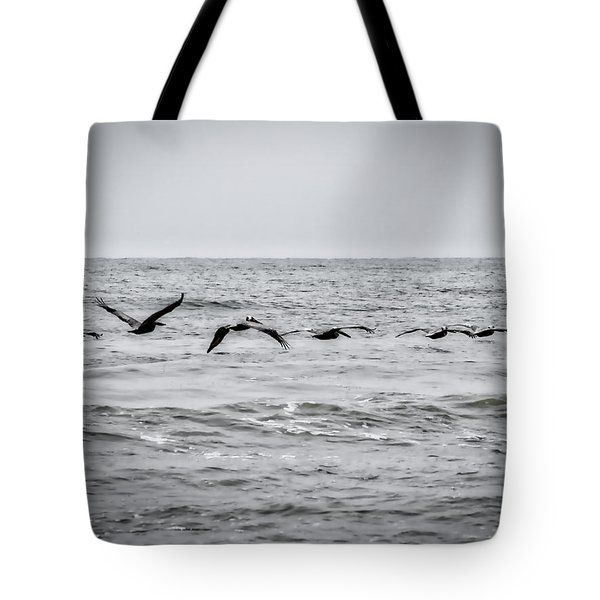 Pelican Black And White Tote Bag
