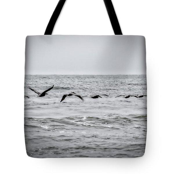 Pelican Black And White Tote Bag
