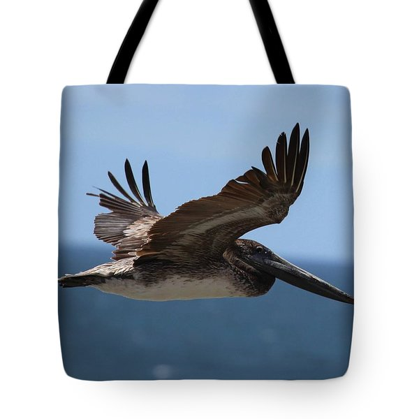 Pelican Flying Wings Up  Tote Bag
