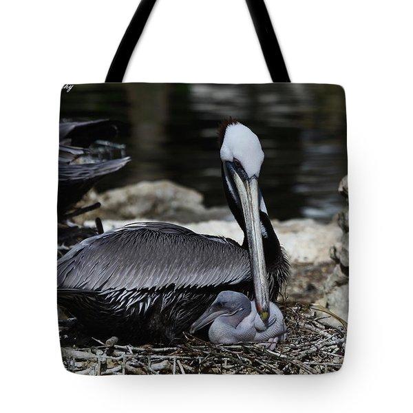 Pelican Hug Tote Bag