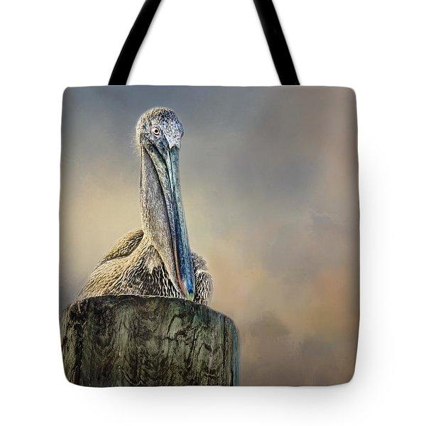 Pelican In Paradise Tote Bag