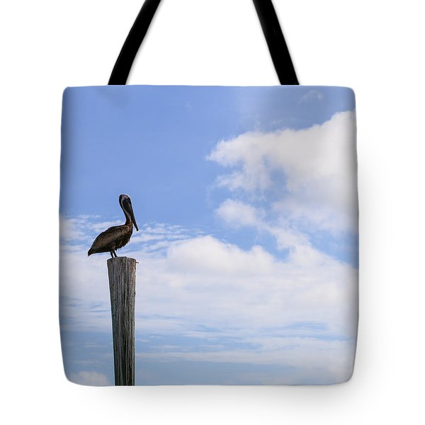 Pelican In The Clouds Tote Bag