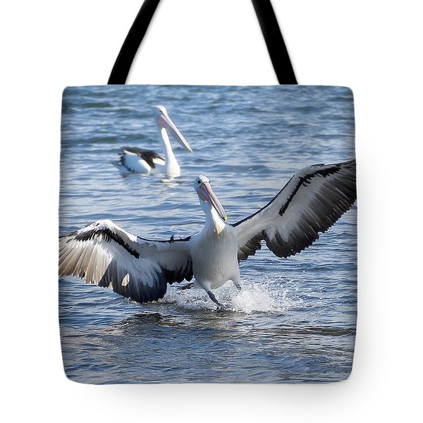 Tote Bag featuring the photograph Pelican Landing 01 by Kevin Chippindall